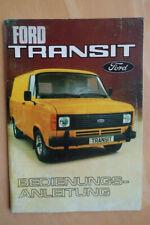 Ford Transit Betriebsanleitung Handbuch Bedienungsanleitung  5/1979