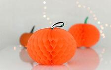 3 pumpkin Honeycomb - wedding party decorations - multi color