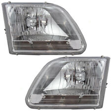 Pair Set Headlights Headlamps for 01-03 Ford F-150 04 F150 Heritage Pickup