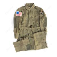 WWII WW2 US ARMY 101ST AIRBORNE M42 PARATROOPER UNIFORM JACKET TROUSERS SIZE L
