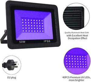 UV Black Lights, Spotlights 50W High Power UV LED Floodlight Waterproof  AU Plug