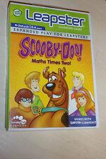Leap Frog Leapster 1 I 2 II Juego Scooby-Doo! matemáticas veces dos! completa