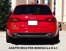 AUDI A4 B8 08-12 DIFFUSORE POSTERIORE SOTTO PARAURTI DOPPIO SCARICO 3.0 2.7 TDI