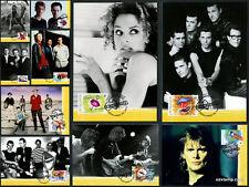 2001 Rock and Pop Music Maxi Cards Prepaid Postcard Maxicards Australia