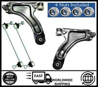 KIT (FRONT) Lower Suspension Wishbone Arms & Drop Links FOR Vauxhall Corsa Combo
