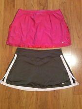 Nike DriFit Women's Tennis Golf Skort Skirt Lot Of Two Pink Brown Size M