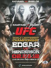 RYAN BADER SIGNED AUTO'D MINI POSTER BAS COA UFC 144 BENSON HENDERSON BELLATOR