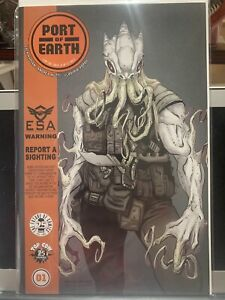 Port of Earth 1B Dragotta Variant NM 2017 Optioned