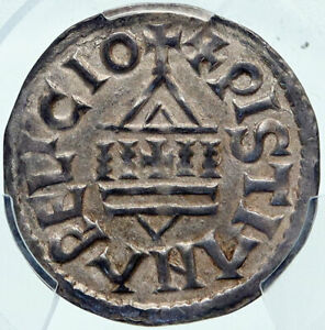 FRANCE Carolingian LOUIS the PIOUS Son of Charlemagne French Coin PCGS i85220