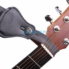 5Pcs Genuine Leather Guitar Strap Buttons Hook for Acoustic Folk Guitar Brown