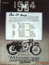 1953 Motor Cycle ADVERT - Matchless '498cc Model G9 Super Clubman' Print AD #2