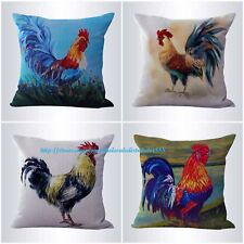 US SELLER-4pcs cushion covers rooster farm decor dining chair wholesale lot