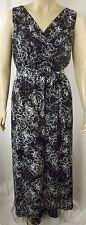 City Chic Black White Sleeveless Rose Cage Maxi Dress Plus Size XS 14 BNWOT C883