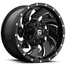 "Fuel D574 Cleaver 22x10 6x135/6x5.5"" -18mm Black/Milled Wheel Rim 22"" Inch"