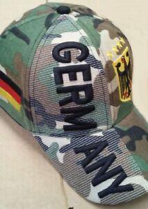Hilkeys Deutschland Baseballcap mit Wappen oliv camouflage bestickt Baseball Cap