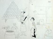 Humour Epicier Epicerie Caricature Albert Dubout 1944