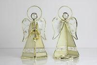 2 Seltene Tiffany Glas Leuchter Teelicht Halter Vintage Engelchen