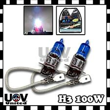 2 X 100W H3 2PC 5000K White Headlight Halogen Gas Xenon Bulb 12V Replacement Fog