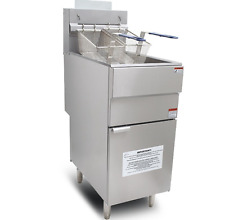 Chips Fryer Commercial Twin Tank 4 Burner