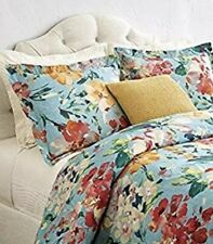 One Home Decorators Garden Bloom Blue Multi King Pillow Sham New