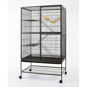 4 level 162cm Ferret Cat Bird Aviary Cage with Casters