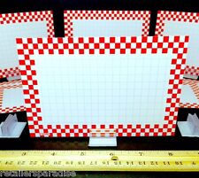 20 PC SET! CHECKERBOARD FOOD SERVICE/DELI/BAKERY/RESTAURANT SALE SIGNS & HOLDERS