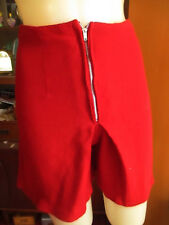 Small 24w True Vtg 60s Blood Red Steel Zip Mod Girl Acrylic Handmade Shorts