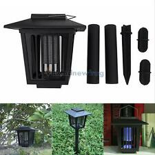 LED Solar Powered UV Mosquito Insect Pest Bug Zapper Killer Garden Lawn Light V