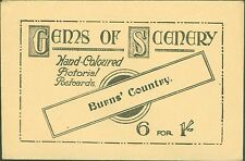 CHARLES WORCESTER ORIGINAL POSTCARDS SLEEVE ONLY~GEMS OF SCENERY BURNS COUNTRY