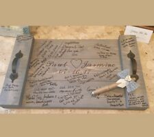 Wedding SIGNATURE GUEST BOOK Alternative Pallet Wood Rustic Serving Tray w/ Pen
