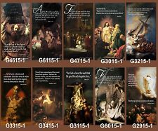 "Inspirational Christian Church Banners 24"" x 60"" - Rembrandt (PICK-ANY-TWO)"
