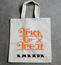 Large Halloween trick  or treat tote bag-personalised boys & girls decoration