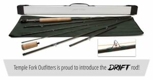 """TEMPLE FORK OUTFITTERS DRIFT 9'-12'3"""" 3 WT 6PC ADJUSTABLE FLY ROD+CASE FREE SHIP"""