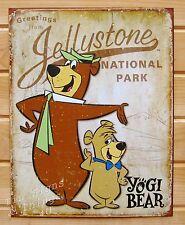 Yogi and Boo Bear Tin Sign metal poster vtg retro cartoon kids room decor 1875