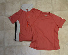 Lot of 2 GoLite C-Thru Wicking Exercise Fitness Shirts Ladies XS NEW LOOK