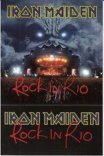 Iron Maiden Rock in Rio RARE promo sticker (2-1) '02