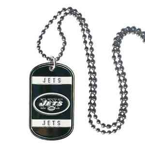 New York Jets NFL Team Logo Dog Tag Necklace Neck Tag with Chain Engraveable