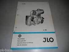 Teileliste Ersatzteilliste Spare Parts List JLO (ILO) Motor Typ L 35, 04/1971