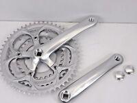 Mighty Rennrad 3-fach Kurbelgarnitur silber Triple 170 mm Vierkant Kurbel 06306