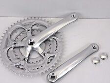 MIGHTY Vélo de course 3 fois Pédalier Argent Triple 170 mm carrée Manivelle 06306