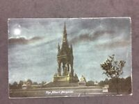 Vintage Postcard: #TP93: The Albert Memorial (Night) : Posted 1904
