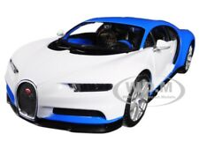 BUGATTI CHIRON BLUE/WHITE EXOTICS 1/24 DIECAST MODEL CAR BY MAISTO 32509