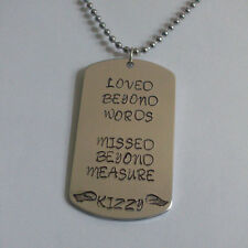 Loved Beyond Words Missed Beyond Measure Handmade Memorial Remembrance Necklace