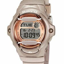 Casio G-Shock Baby-G Rose Gold Sports Watch Womens 200M Diver Vintage World Time