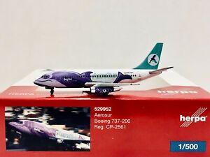 Herpa Wings Aerosur Boeing 737-200 1:500 CP-2561 529952