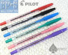 6 Colors Pilot BP-S-F 0.7mm fine ball point pen with cap