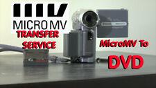 Sony MICROMV tape transfer copy convert service to DVD