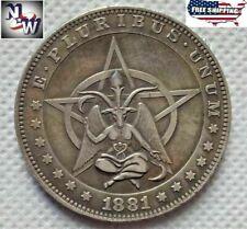 HOBO-NICKEL-1881-COIN-CC-MORGAN-DOLLAR-PENTAGRAM-BAPHOMET-COIN