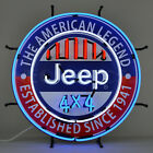 Neon sign Jeep Dealership 4x4 Shop Glass wall lamp light Wrangler Rubicon 2020