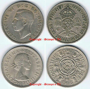 2 Shillings Florin 1947-1967 incl sets  - DISCOUNTS UP TO 30% Available